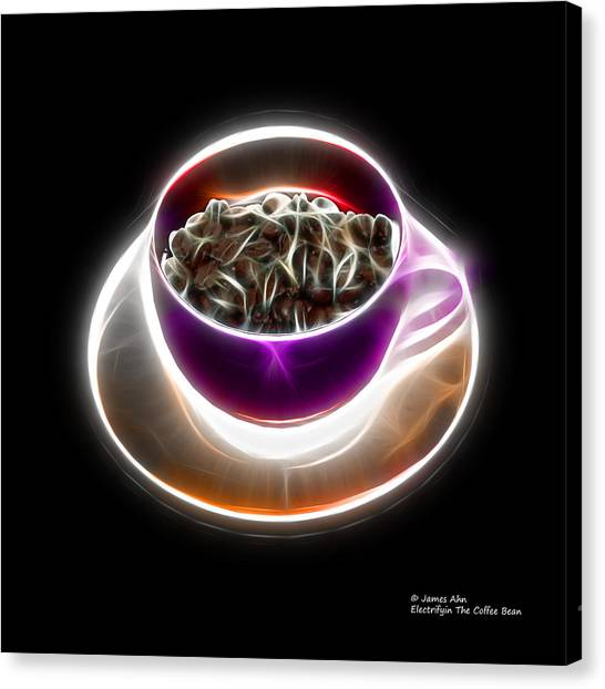 Electrifyin The Coffee Bean -version Violet Canvas Print