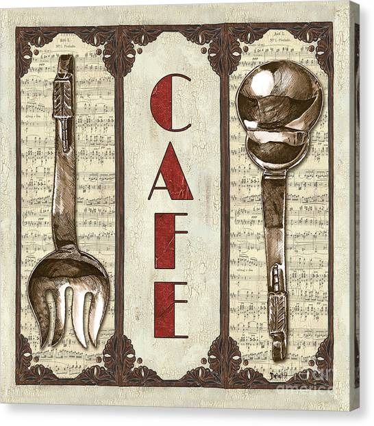 Cafe Canvas Print - Elegant Bistro 2 by Debbie DeWitt
