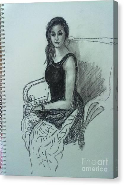 Elegant Woman Canvas Print