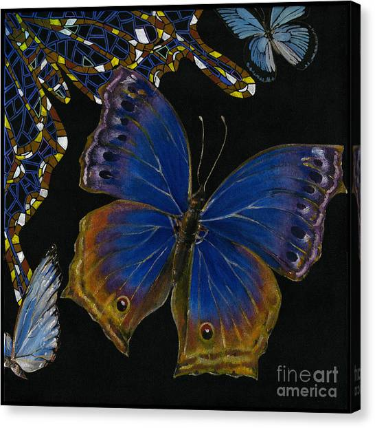 Elena Yakubovich - Butterfly 2x2 Lower Right Corner Canvas Print