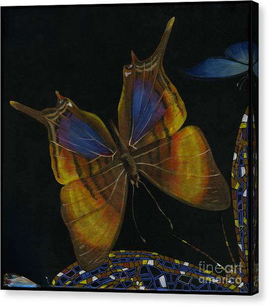 Elena Yakubovich - Butterfly 2x2 Top Left Corner Canvas Print