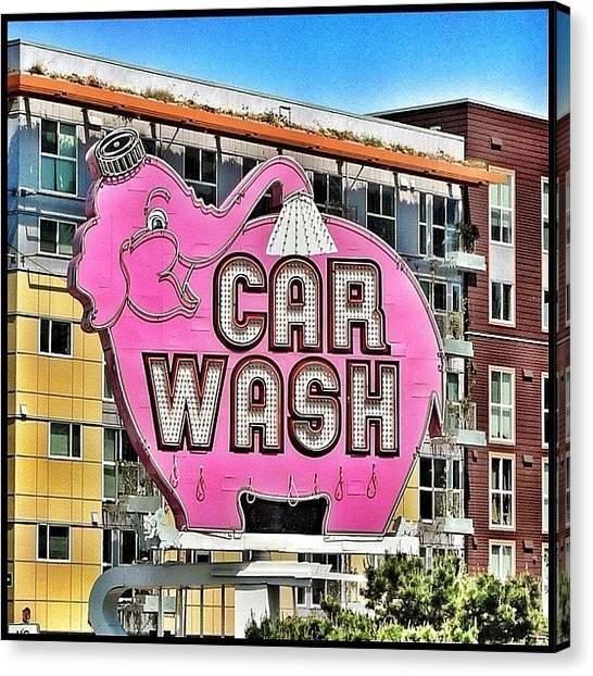 Seattle Canvas Print - Elephant Car Wash by T Catonpremise