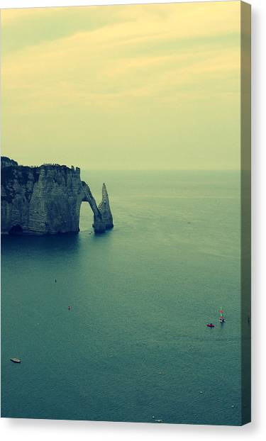 Etretat Canvas Print - Elephant Rock In Etretat, Normandy In France by Photo by Ira Heuvelman-Dobrolyubova
