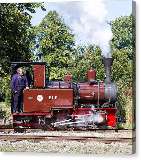 Locomotive Canvas Print - elf At Pages Park Leighton Buzzard by Dave Lee