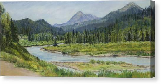 Canvas Print - Elk Crossing by Susan Driver