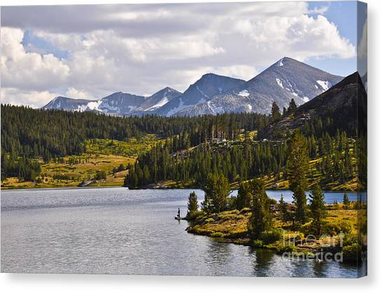 Ellery Lake Canvas Print by Camille Lyver