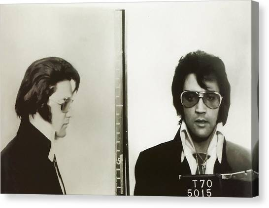 Elvis Canvas Print - Elvis Mugshot 1970 by Digital Reproductions