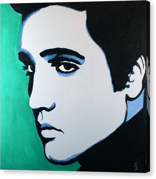 Elvis Presley - Blue Green Canvas Print