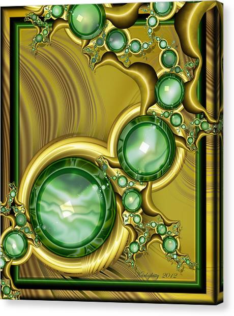 Emerald Gloss Canvas Print