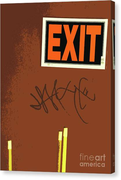 Black Tip Sharks Canvas Print - Emergency Exit by Joe Jake Pratt