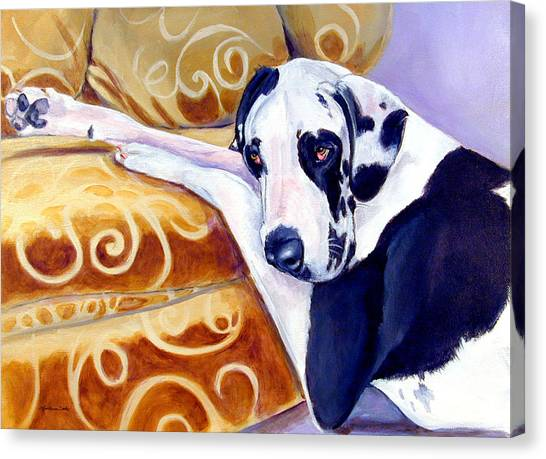 Great Danes Canvas Print - Emery The Great Dane by Lyn Cook