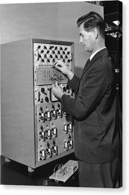 Emiac Mainframe Canvas Print by Archive Photos