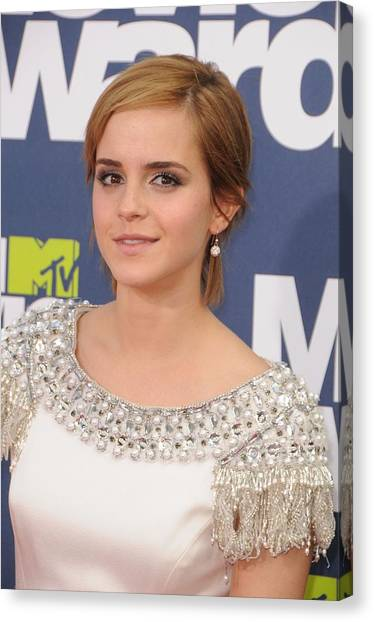 The Amphitheatre Canvas Print - Emma Watson At Arrivals For The 20th by Everett