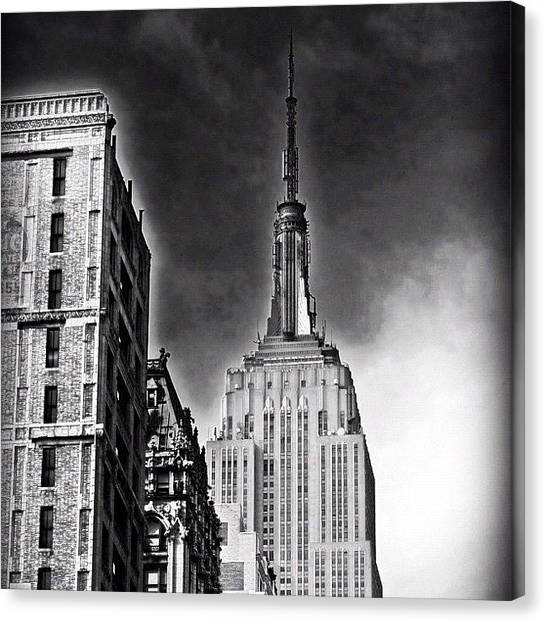 Skyscrapers Canvas Print - #empire #newyorker #ny #architecture by Joel Lopez