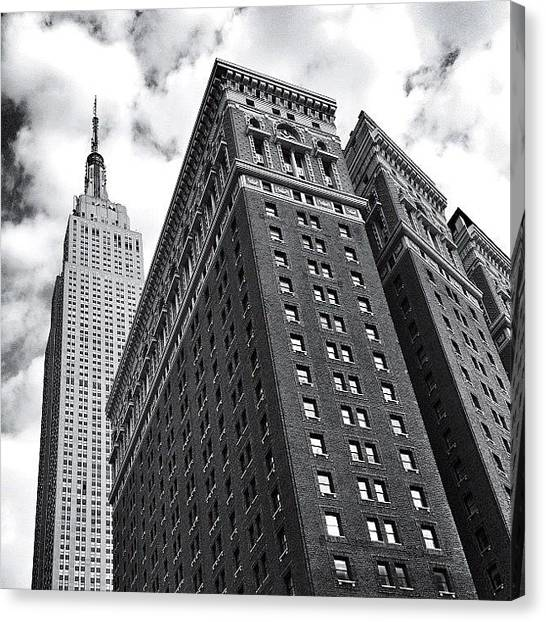 Times Square Canvas Print - Empire State Building - New York City by Vivienne Gucwa