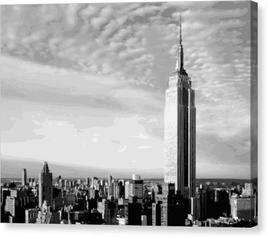 Empire State Building Bw16 Canvas Print