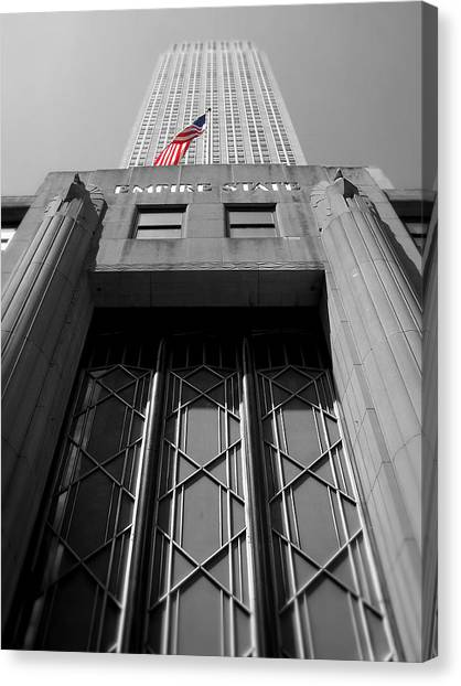Empire State Building Canvas Print by Heather Samson