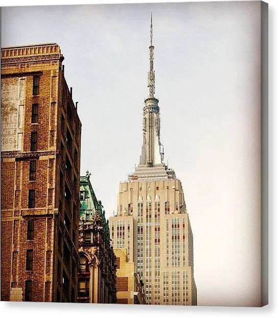 Skyscrapers Canvas Print - Empire State Building Ny by Joel Lopez