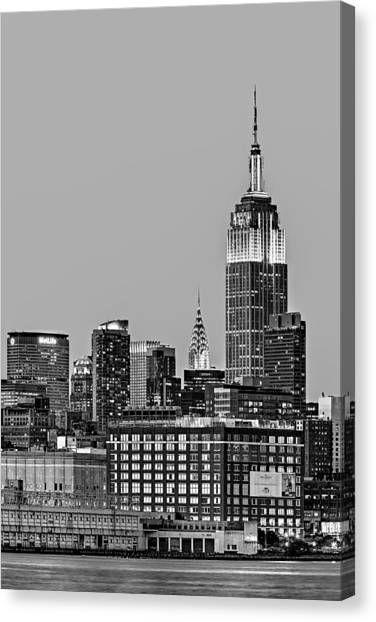Chrysler Building Canvas Print - Empire State Bw by Susan Candelario