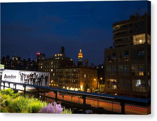 Empire State From High Line Canvas Print by John Dryzga