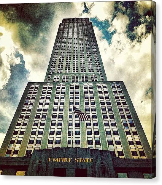 Times Square Canvas Print - Empire State by Luke Kingma