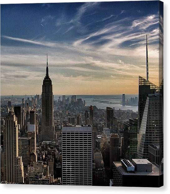 Skyscrapers Canvas Print - Empire State Of Mind - New York by Joel Lopez