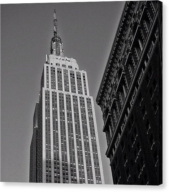 Skyscrapers Canvas Print - #empirestate #empire #usa #newyorker by Joel Lopez