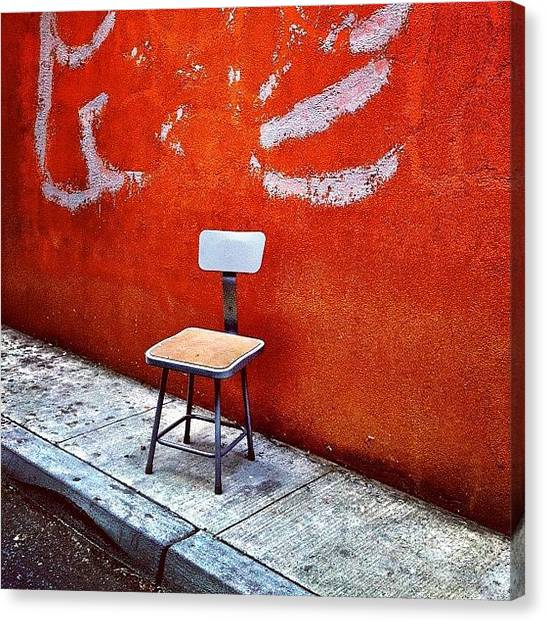 Urban Canvas Print - Empty Chair by Julie Gebhardt