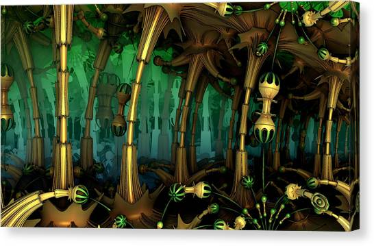 Enchanted Fantasy Forest Canvas Print