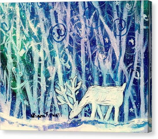 Enchanted Winter Forest Canvas Print