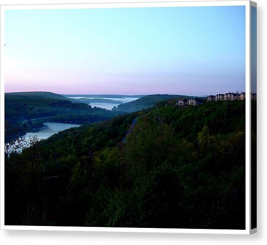 End Of A Perfect Day At Deep Creek Canvas Print by Frank Wickham