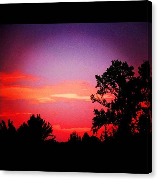 Arkansas Canvas Print - end Of Days #sunset #skyfire #ig by Roger Snook