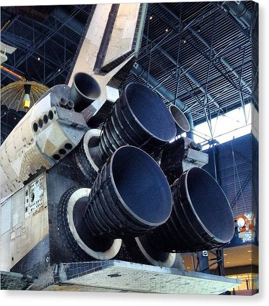 Space Shuttle Canvas Print - Engines #shuttle #discovery #space by Simon Prickett