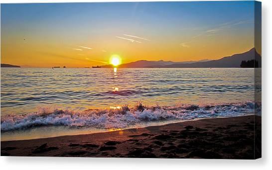English Bay - Beach Sunset Canvas Print