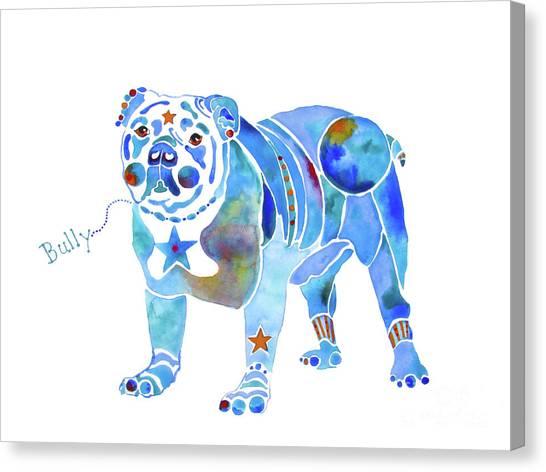 English Bulldog Bully Canvas Print