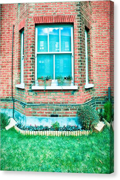 Window Canvas Print - English House by Tom Gowanlock