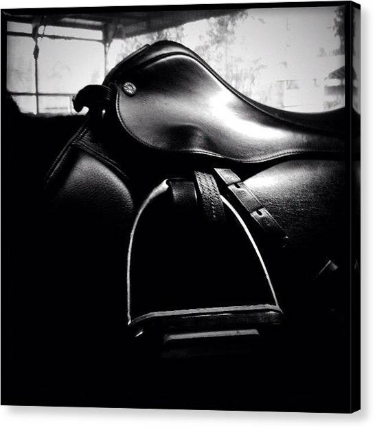 Saddles Canvas Print - #english #saddle by Kevin Smith