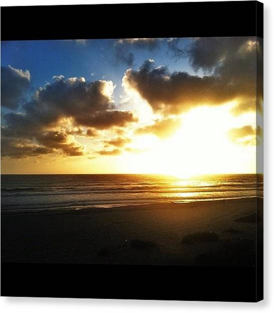 Beach Sunsets Canvas Print - Enjoying A Couple More Nights In San by Loghan Call