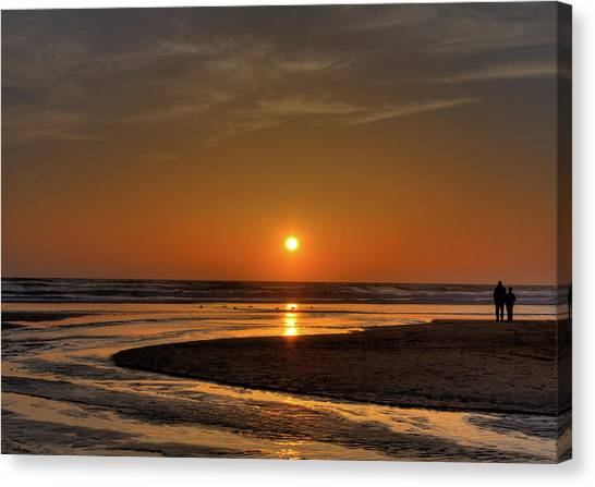 Enjoying The Sunset Canvas Print