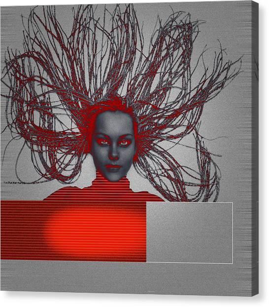 Meditate Canvas Print - Enlightnment by Naxart Studio