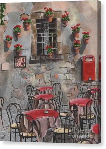 Tables Canvas Print - Enot Eca by Debbie DeWitt
