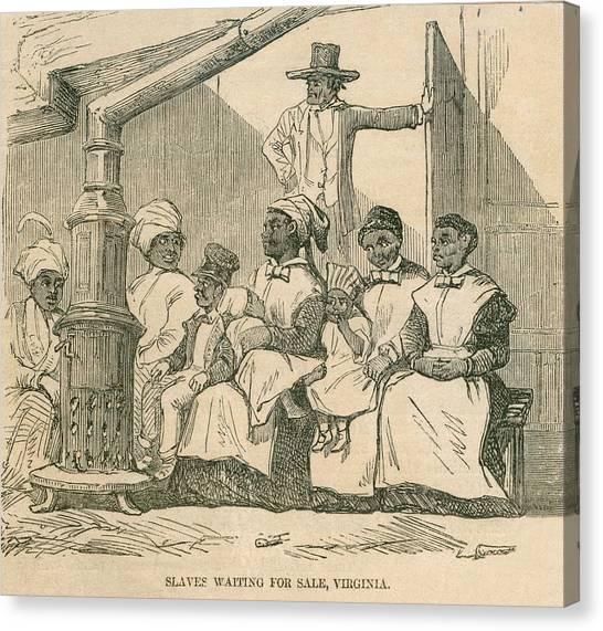 Enslaved African American Women Canvas Print by Everett