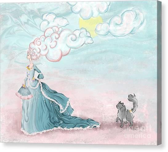 Enter Lady Spring Canvas Print