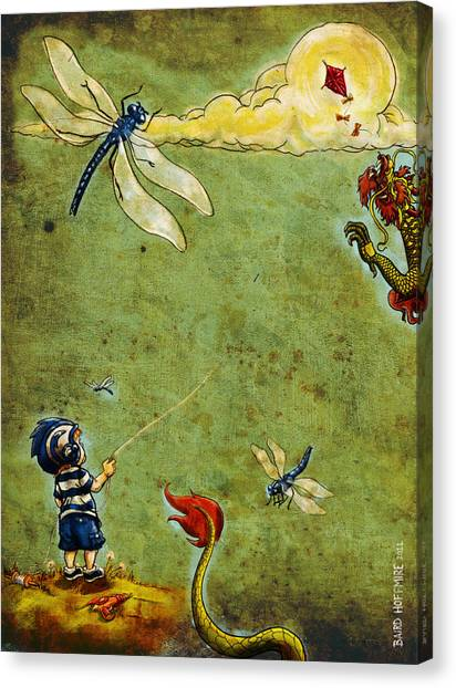 Enter The Dragon Canvas Print by Baird Hoffmire