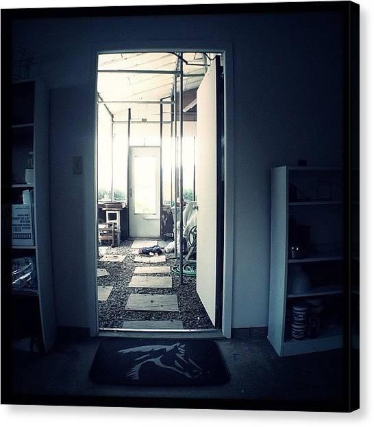Farmhouse Canvas Print - Entered Farm House by Jeff Koromi