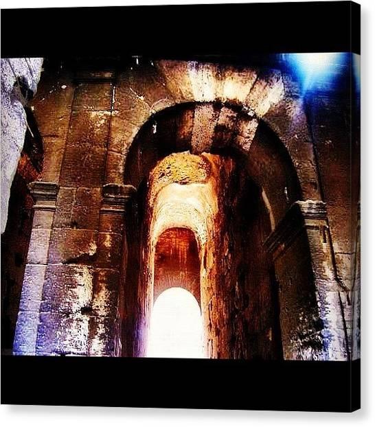 Roman Art Canvas Print - Entering The Roman Coliseum #vacation by David Sabat
