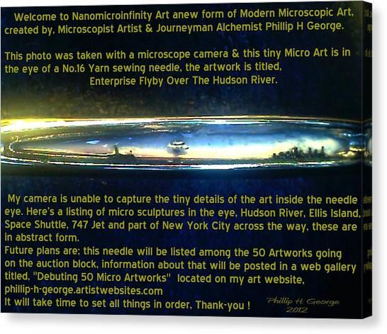 Enterprise Flyby Over The Hudson River  Canvas Print