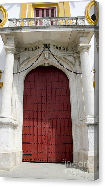 Entrance Of A Bullring Canvas Print by Perry Van Munster