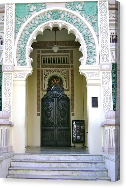 Entrance To Palacio De Valle Canvas Print by Laurel Fredericks