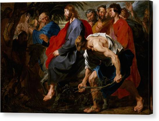 Passover Canvas Print - Entry Of Christ Into Jerusalem by Sir Anthony Van Dyck